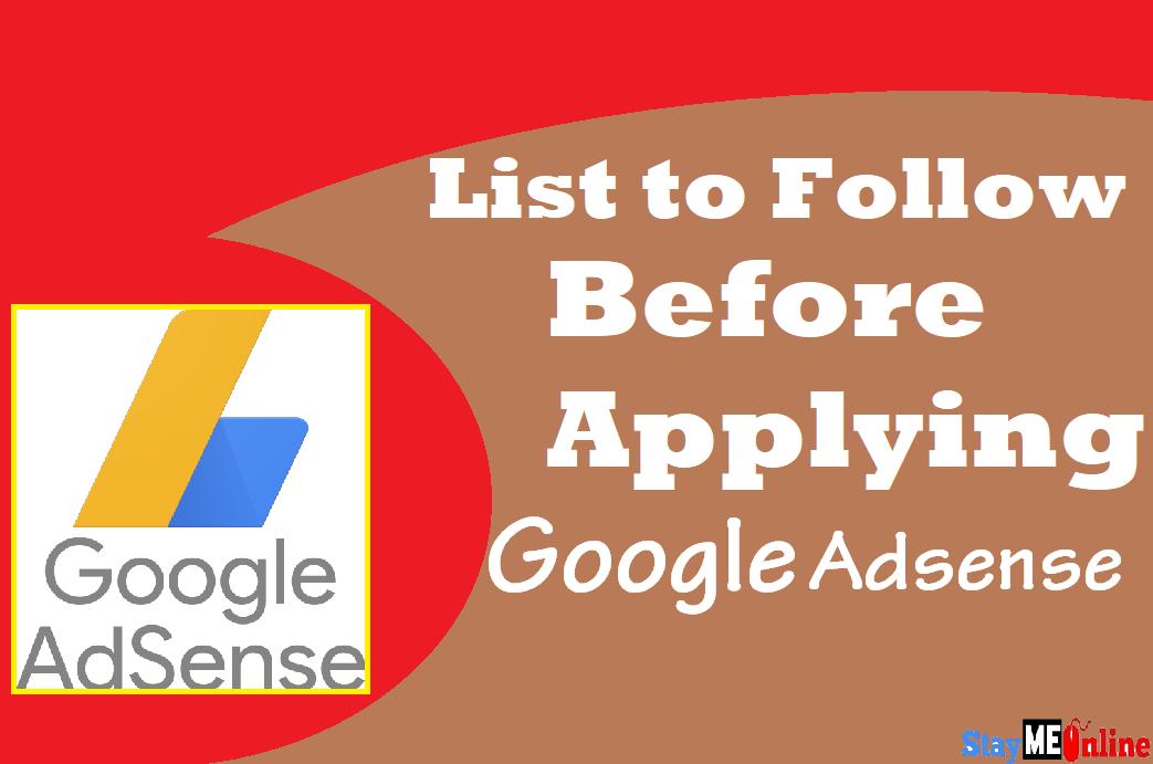 Template Copy 2 - List To Follow Before Applying Google Adsense