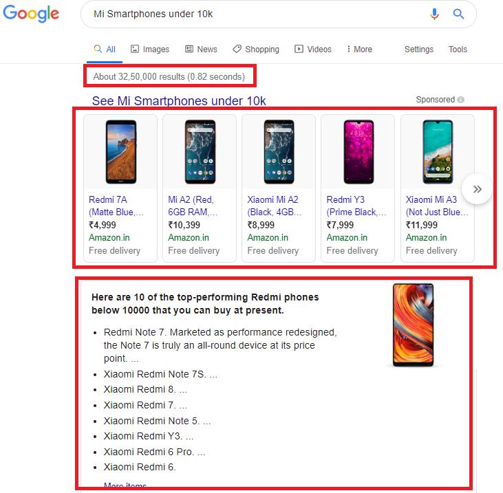 MI Smartphones under 10k results