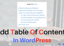 Add Table Of Contents 210x150 - Add Table Of Contents In Your WordPress Blog