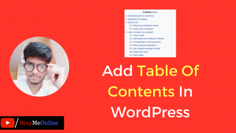 How To Add Table Of Contents In WordPress Blog?