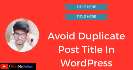 How To Avoid Duplicate Post Title In WordPress-Tutorial