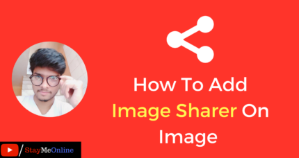 How To Add Image Sharer On Image In WordPress?