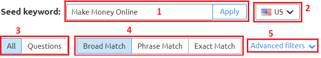 How to keyword research using SEMrush