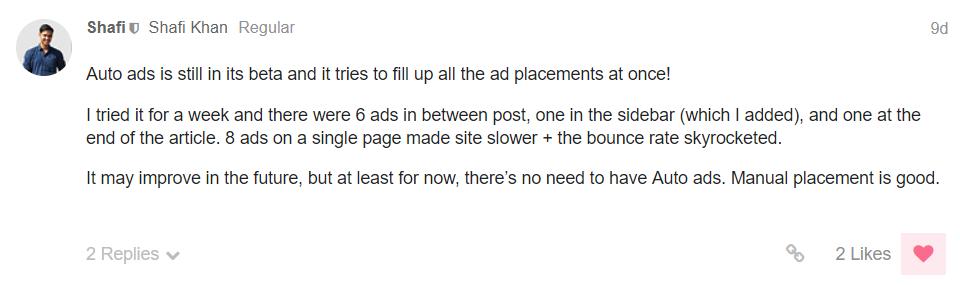 AdSense Auto ads Review