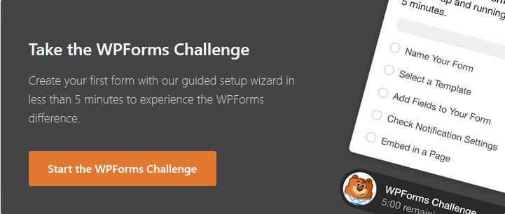 WPforms Challenge