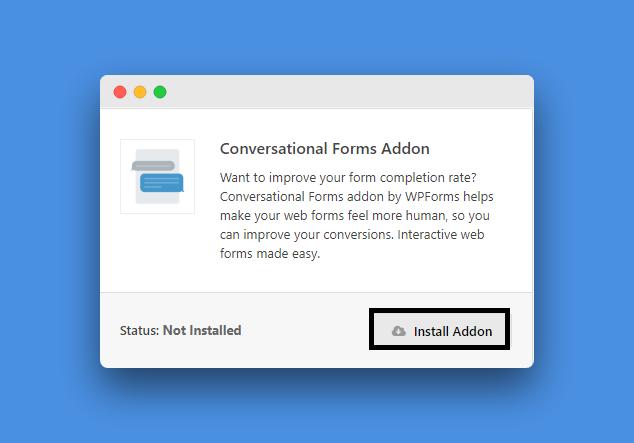 Install Conversational Addon