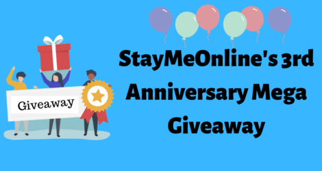 StayMeOnline's 3rd Anniversary Mega Giveaway Worth $4000+ Prizes