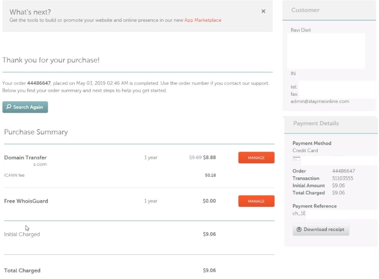 save money on domain renewal