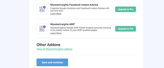 MonsterInsights Addon