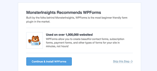 WPForms Recommendations