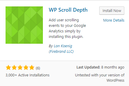 WP Scroll Depth