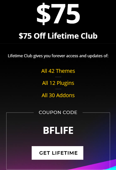 Themify Lifetime Club Black Friday Deal