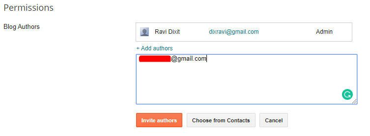Add Authors In Blogger