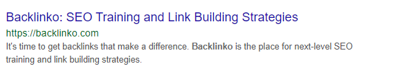Backlinko meta description