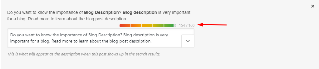 Meta Description Limit