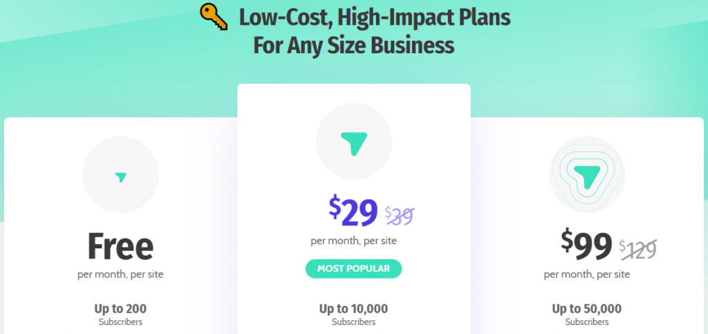 Subscribers pricing and plans