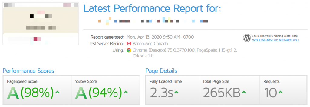 A2 Hosting Speed Performance Test