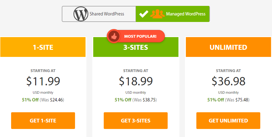 A2 Hosting WordPress Managed Hosting