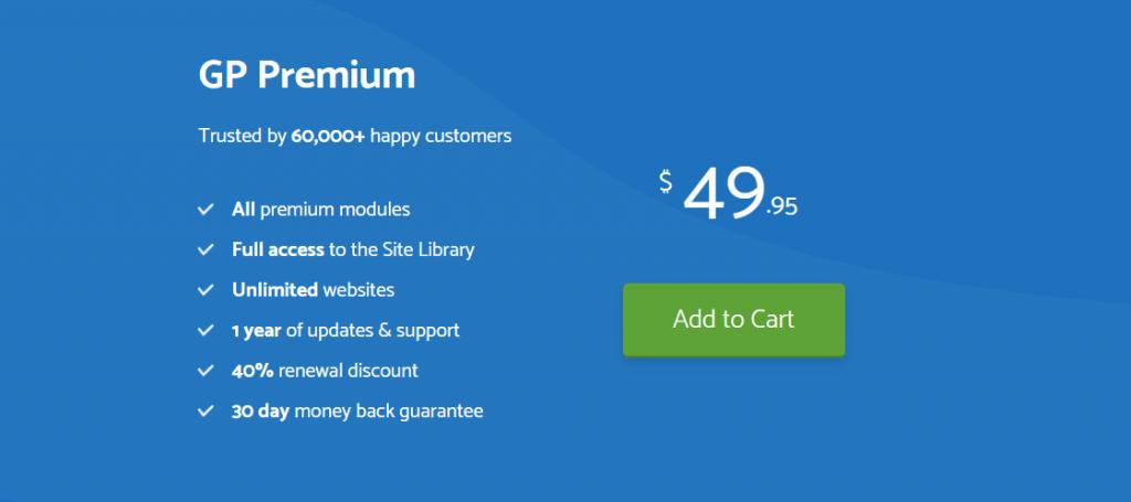 GeneratePress premium theme discount
