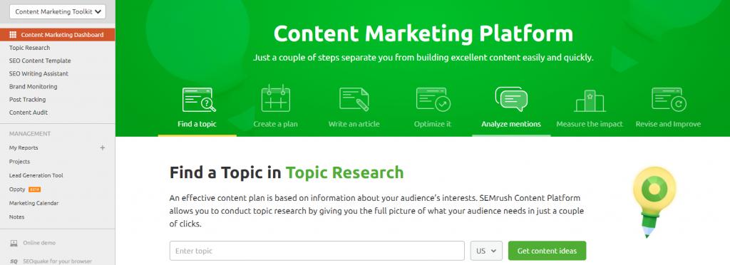 Content Marketing ToolKit by SEMrush