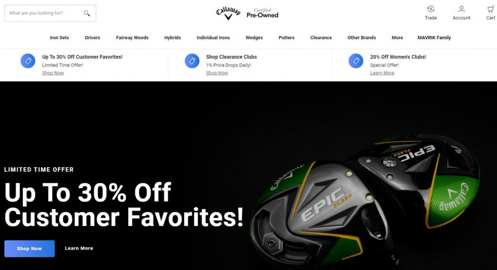 Callaway Pre-Owned Affiliate Program