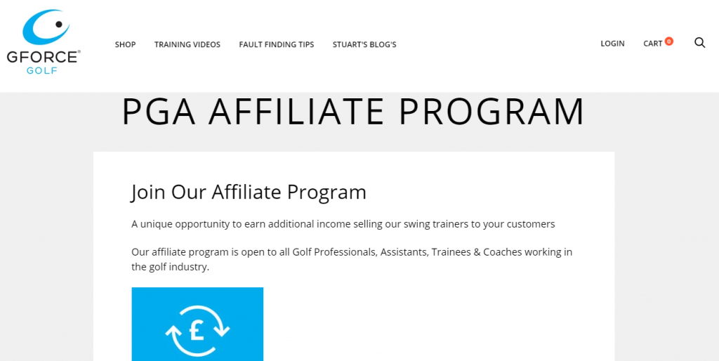 GForce Golf Affiliate Program