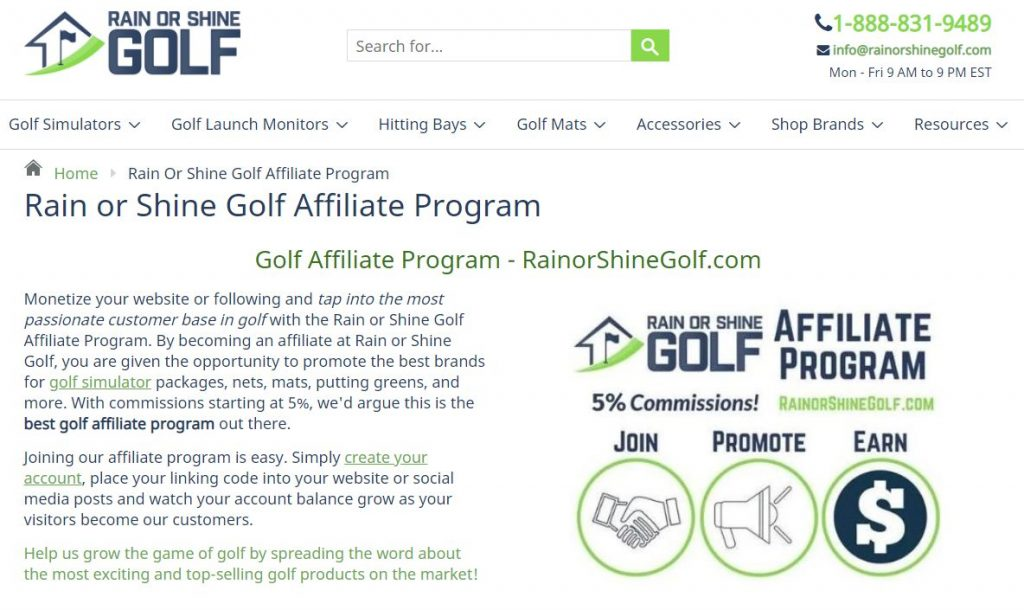 Rain or Shine Affiliate Program