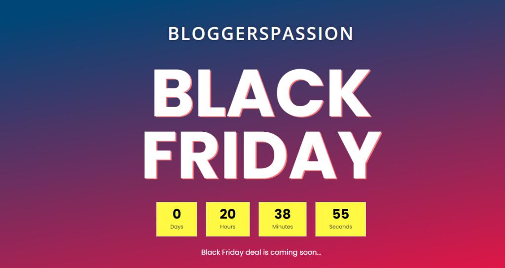 BloggersPassion Ebook Black Friday deals